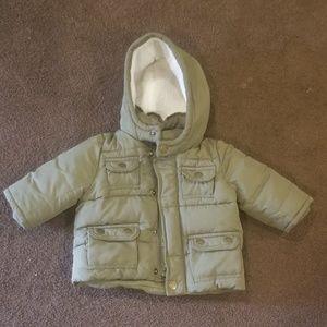 Gap Green baby boy coat size 0 - 6 months